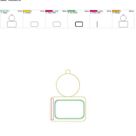 plain circle horizontal id holder 5×7