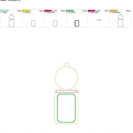 plain circle vertical id holder 5×7