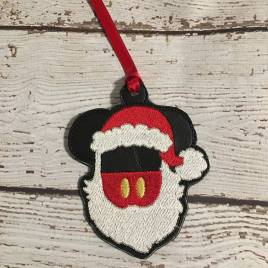 ITH Santa Mouse with beard Ornaments 4×4 and 5×7 grouped included- Embroidery Design – DIGITAL Embroidery DESIGN