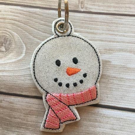 snowman scarf eyelet