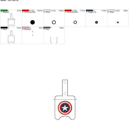 American Hero Sanitizer holder snap tab 5×7