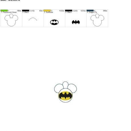 Bat Hero Mouse Eyelet 4×4