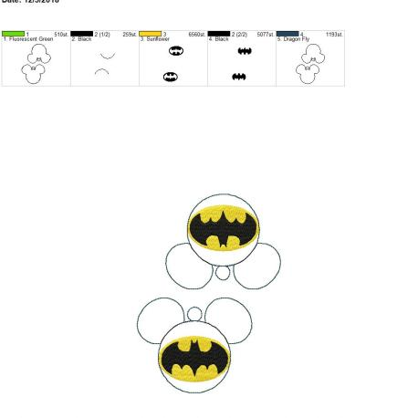 Bat Hero Mouse Ornament 5×7 grouped