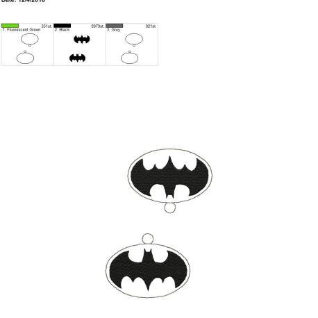 Bat Hero ornament 5×7 grouped