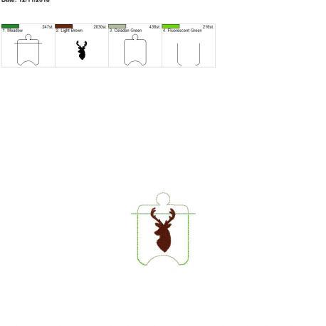Deer sanitizer holder eyelet 4×4