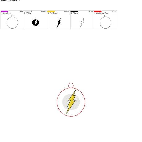 Flash Hero Ornament 4×4