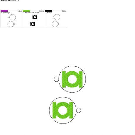 Green Hero Ornament 5×7 grouped