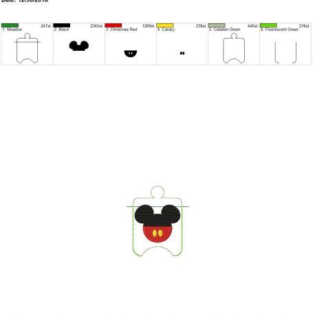 Mr Mouse sanitizer holder eyelet 4×4