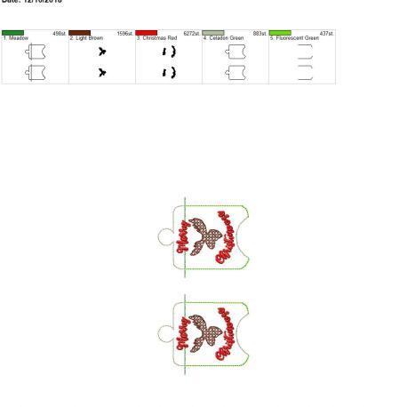 Rusic Merry Christmoose Sanitizer Holder eyelet 5×7 grouped