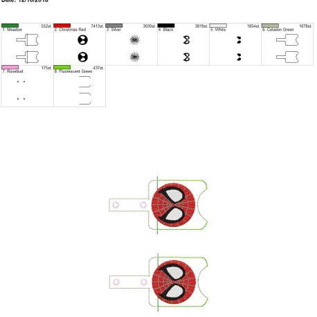 Spider Hero Sanitizer holder snap tab 5×7 grouped