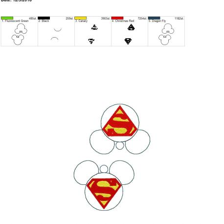 Super Hero Mouse Ornament 5×7 grouped