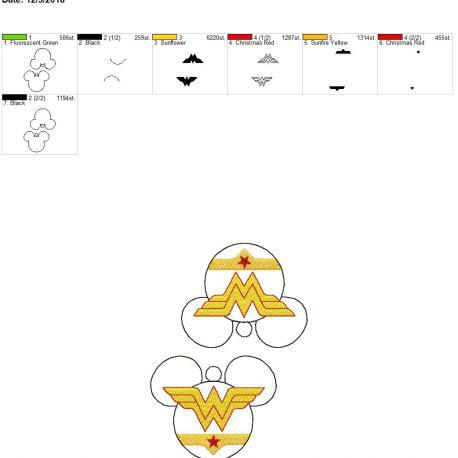 Wonder Hero Mouse Ornament 5×7