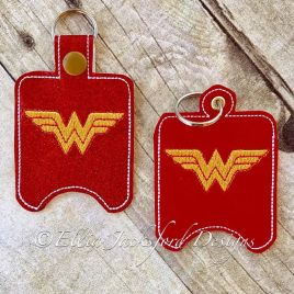 ITH Wonder Hero Holder 4×4 and 5×7 included- Embroidery Design – DIGITAL Embroidery DESIGN