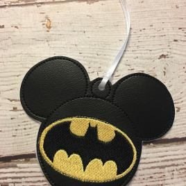 ITH Bat Hero Mouse Ornament- 4×4 and 5×7 grouped- Embroidery Design – DIGITAL Embroidery DESIGN
