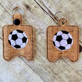 ITH Soccer Sanitizer Holder 4×4 and 5×7 included- Embroidery Design – DIGITAL Embroidery DESIGN