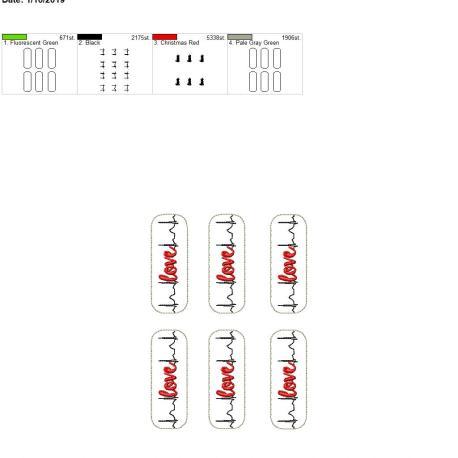EKG love 5×7 grouped