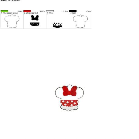 Miss Mouse Eyelet 4×4