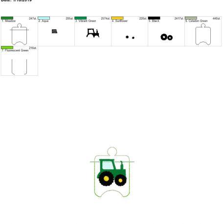 Tractor sanitizer holder eyelet 4×4