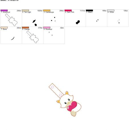 Valentine Boy Fox snap tab 4×4