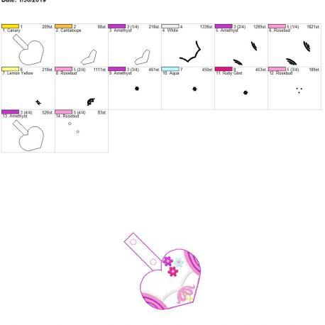 Valentine Long hair princess snap tab 4×4