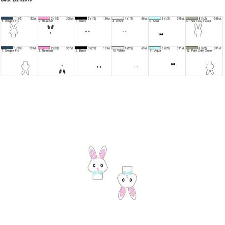 Bunny boy pencil topper 4×4 grouped