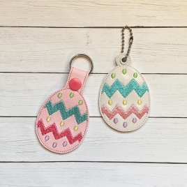 ITH Easter Egg Fobs- 4×4 and 5×7 grouped- Embroidery Design – DIGITAL Embroidery DESIGN