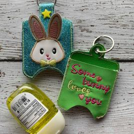 ITH 3D Bunny Boy Sanitizer Holders 4×4 and 5×7 included- Embroidery Design – DIGITAL Embroidery DESIGN