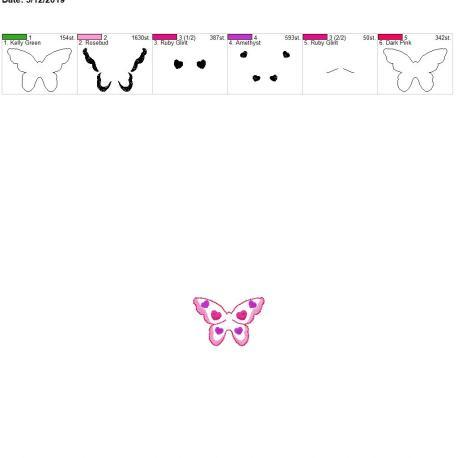 Butterfly feltie for sanitizer- first hooping