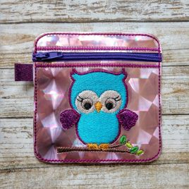 ITH – 3D Owl Zipper Bag 4×4 – Digital Embroidery Design