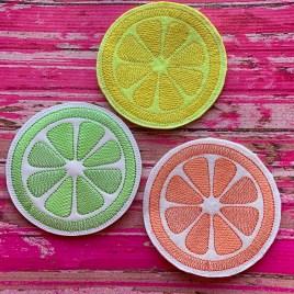 ITH Citrus Coaster 4×4 – DIGITAL Embroidery DESIGN