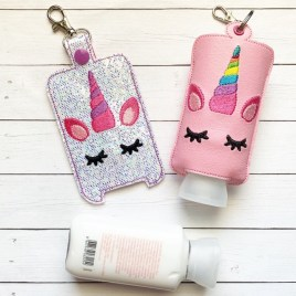 ITH Unicorn Hand Lotion Holder 5×7 included- DIGITAL Embroidery DESIGN