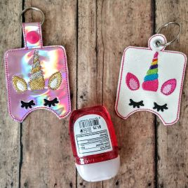 ITH Rainbow Unicorn Sanitizer Holder 4×4 and 5×7 included- DIGITAL Embroidery DESIGN