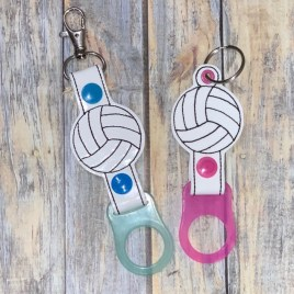 ITH Volleyball Water Bottle Holders – 4×4 and 5×7 – DIGITAL Embroidery DESIGN