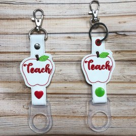 ITH Teach Water Bottle Holders – 4×4 and 5×7 – DIGITAL Embroidery DESIGN