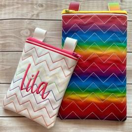 ITH – Chevron Zipper Bag – 3 sizes – Digital Embroidery Design