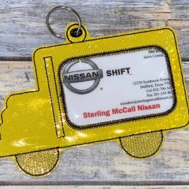 ITH – School Bus ID Holder 5×7 only – Digital Embroidery Design
