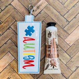 ITH Autism Awareness Hand Cream Holder 5×7 – DIGITAL Embroidery DESIGN