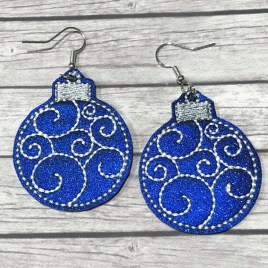 ITH – Swirly Ornament Earrings – 3 sizes – 4×4 and 5×7 Grouped- Digital Embroidery Design