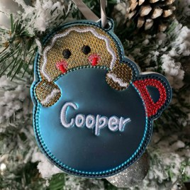 ITH -Gingerbread Ornament 4×4 and 5×7 grouped – Digital Embroidery Design