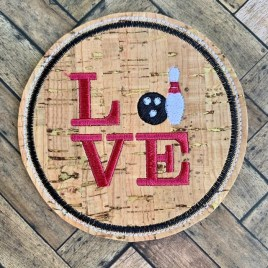ITH Love Bowling Coaster 4×4 – DIGITAL Embroidery DESIGN