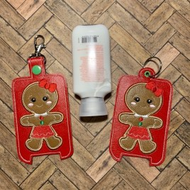 ITH Gingerbread Girl Applique Hand Lotion Holder 5×7 included- DIGITAL Embroidery DESIGN