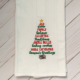 Christmas Sayings 5×7 & 6×10 – Digital Embroidery Design