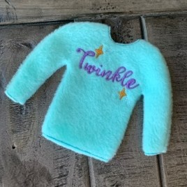 ITH – Twinkle Doll Sweater 5×7 – Digital Embroidery Design