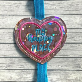 ITH – My happy place – Book Band – Digital Embroidery Design