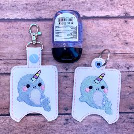 ITH Narwhal Sanitizer Holders 4×4 and 5×7 included- DIGITAL Embroidery DESIGN
