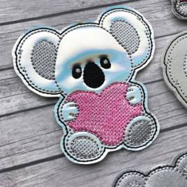ITH – Koala Heart Felties – 3 sizes – 4×4 and 5×7 Grouped- Digital Embroidery Design