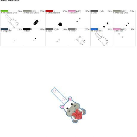 Valentine hippo snaptab 4×4