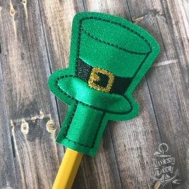 ITH Leprechaun Hat Pencil Toppers 4×4 and 5×7 included- DIGITAL Embroidery DESIGN