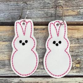 ITH – Marshmallow Easter Earrings – 3 sizes – 4×4 and 5×7 Grouped- Digital Embroidery Design
