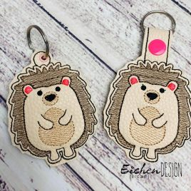 ITH Hedgehog Fobs 4×4 and 5×7 included –  DIGITAL Embroidery DESIGN
